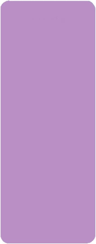 Natürliches Gummi rutschfest Yoga Matte, Pilates Bodenübungen Gymnastikmatte, Geeignet Für männer Und Frauen Mit Trageriemen -lila 183x66cm