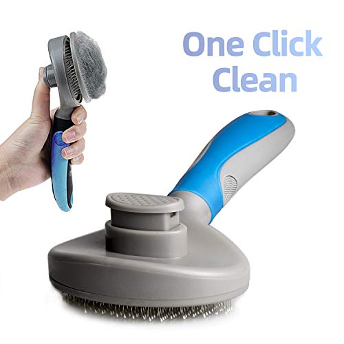 DAMGOO cepillo para polvo de pelo de perro, cepillo para polvo de limpieza para mascotas, cepillo para polvo de aseo para cachorros, herramienta ergonómica, removedor de pelo para perros y gatos de pelo largo
