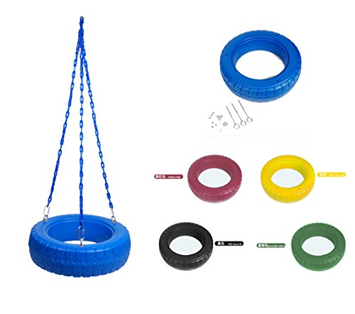 Kids neumático Swing niños equilibrio entrenamiento al aire libre grupo adultos juego (356lbs), azul