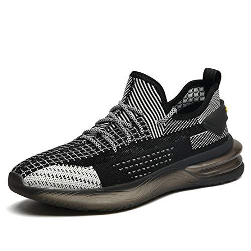 ADFD Zapatos para Correr Transpirables Resistentes al Desgaste para Hombres Calzado Deportivo de Estilo Clásico Adecuado para Todo Tipo de Deportes y Uso Diario,C,39