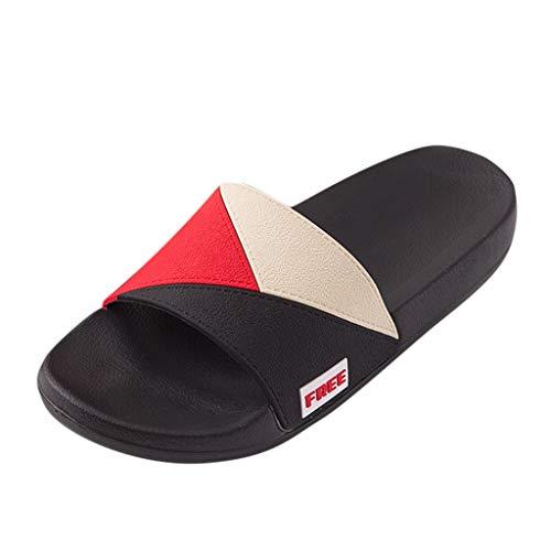 KERULA Hausschuhe Herren Sommer Unisex-Erwachsene Bequeme Atmungsaktive rutschfeste Langlebig Strandschuhe Sandalen Schuhe mit Rutschfester Gummisohle für Drinnen und Outdoor