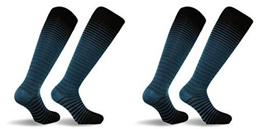 Travelsox Graduated Compression Socks (2 Pack), Black/Tea, Medium