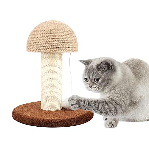 WEFLAIR Kratzbaum, Kratzsäule für Katzen, Kratzstange mit Sisalstamm & Spielball, 26 x 26 x 30 cm