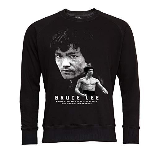 Rule Out Kinder Sweatshirt. Bruce Lee. Kung Fu. The Legend. Shwarz. Crewneck. Casual (Größe Large)