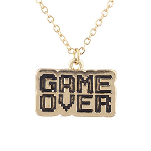LUX accesorios dorado tono Game Over gamer niña juegos de video letra...