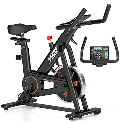 Exercise Bike Stationary Indoor Cycling Bikes - spinning bike for home, workout prime Bike with Adjustable Seat and Handlebar, 35lb Flywheel, stationary Bike with Large Tablet Holder for home cardio