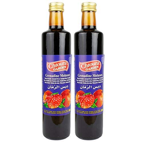 Chtoura Garden - Original Granatapfelsirup - Granatapfel Sirup zum Verfeinern und Veredeln von Soßen und Dips - Grenadine im 2er Set á 250 ml Glasflasche