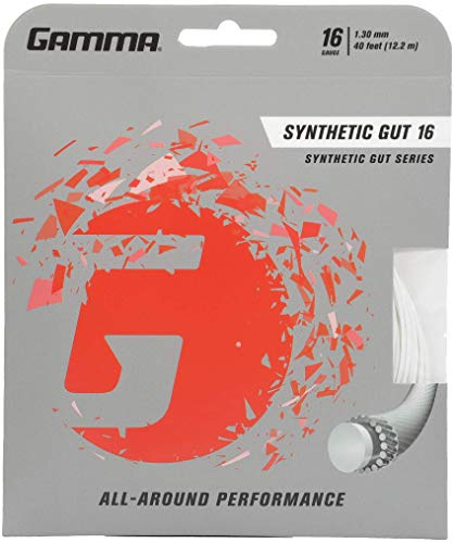 Gamma Synthetic Gut 16G Tennis String, White