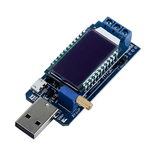 TeOhk USB Buck Boost Convertidor Medidor Probador Módulo Paso Arriba/Abajo Fuente de Alimentación Módulo Lec DC-DC Ajustable Convertidor Voltímetro Amperímetro Probador de Capacidad de la Batería