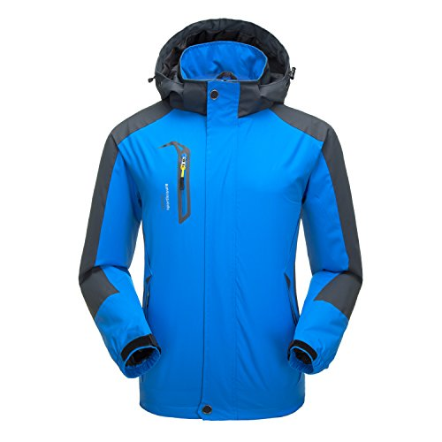 Naudamp Chaqueta Impermeable al Aire Libre para Hombres Ligero Softshell Rain Coat Escalada Senderismo Ropa Montaña Multi-Bolsillos Rompevientos