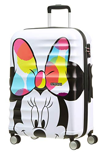 American Tourister Wavebreaker Bagaglio a Mano Disney, Spinner M (67 cm - 64 L), Bianco (Minnie Close-Up)