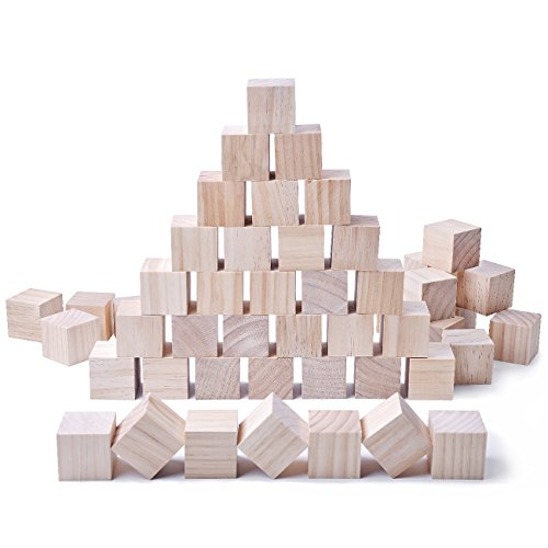 24pcs Solid Wood Craft Blocks...