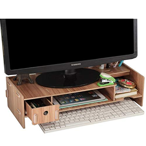 CHQ ブックエンド本棚本立て 本棚ホワイト木製デスクトップオーガナイザー デスクトップオーガナイザーオフィス収納ラックな木製ディスプレイ棚 デスクトップオーガナイザーの収納ケース