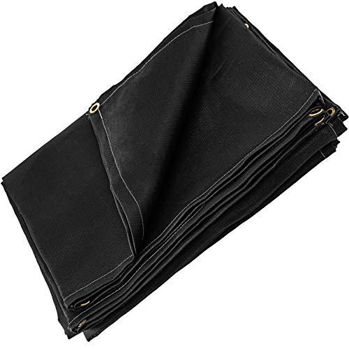 Mophorn 8 x 10 Ft Welding Blanket Black Fiberglass Blanket Portable Fiberglass Fire Retardant Blanket Welding Mat Welding Fireproof Thermal Resistant Insulation With Carry Bag