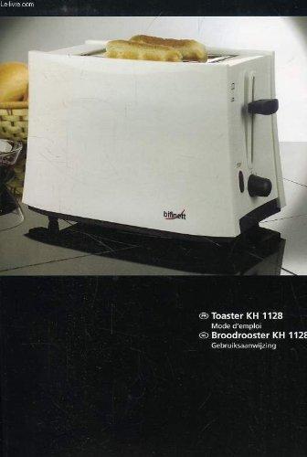 BIFINETT, TOASTER KH 1128, MODE DEMPLOI