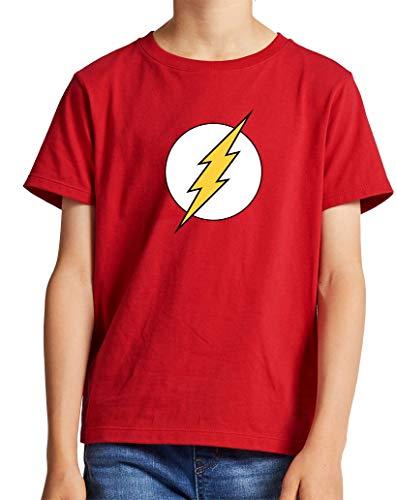 Camiseta de NIÑOS Flash Comic DC 002 11-12 años