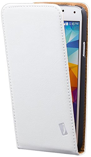 iCues Samsung Galaxy S5 NEO & S5 | Klapp Tasche Weiss | [Display Schutzfolie Inklusive] Leder - Imitat Book Klapphülle Schutz Etui Handytasche zum aufklappen Flip Case Schutzhülle Booklet Hülle Wallet