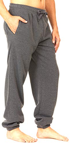 UNIQUE STYLES ASFOOR Mens Sweatpants with Pockets Fleeced Lined Mens Jogger Pants Sweats for Men Charcoal