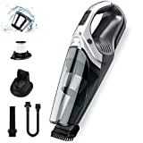 Holife Cordless Handheld Vacuum Cleaner, 110W Car Vacuum Cleaner with Strong Cyclone Suction, Detachable Battery, Foldable Brush Tool, Dual Filtration for Home & Car Cleaning