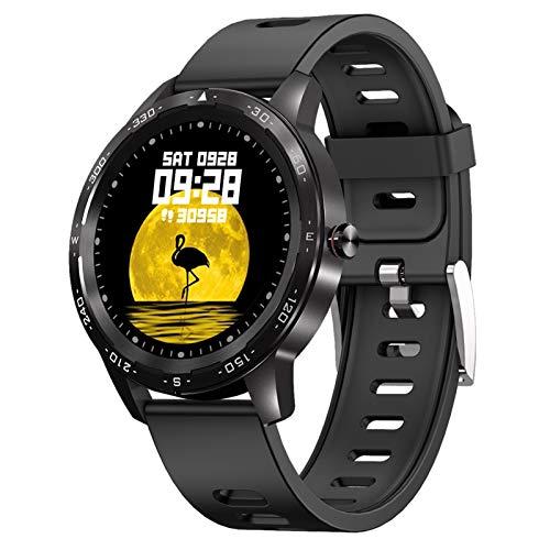 Leisont - Reloj Inteligente de los Hombres Impermeable presión Arterial Fitness Reloj Inteligente Reloj Inteligente de Las Mujeres Reloj Deportivo Negro y Gris