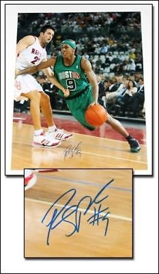 Rajon Rondo Boston Celtics in Italy Signed 8x10