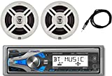 Dual Electronics WCPSX422BT Marine Stereo LCD Single DIN with Built-in Bluetooth, SiriusXM SXV300 Tuner, Two 6.5-inch Dual Cone Marine Speakers, Marine Antenna and $70 Online/Mail-in Rebate