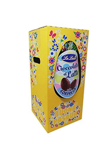 Uovo pasquale fazzoletto LA LUISA Cioccolato al Latte 1 Kg in Scatola Regalo