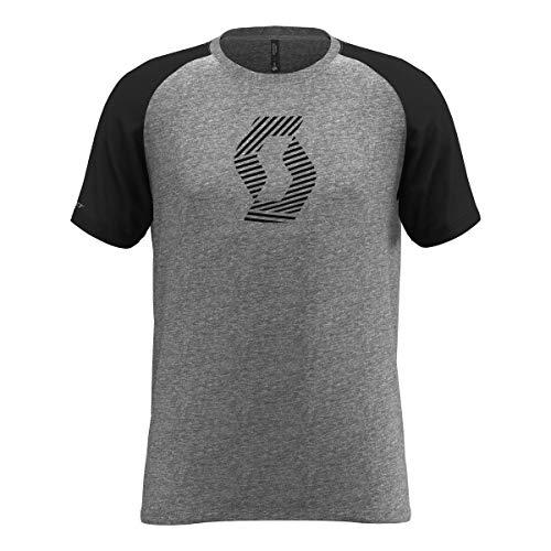Scott T-Shirt 10 Icon Raglan Grau Gr. S