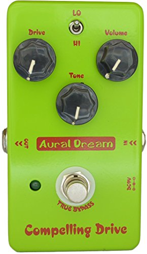 Aural Dream Compelling Drive Guitar Effect Pedal includes high gain heavy Drive for 2 Drive modes,True Bypass.