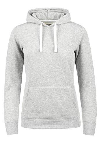 DESIRES Olive Damen Damen Hoodie Kapuzenpullover Pullover Mit Kapuze Und Fleece-Innenseite, Größe:S, Farbe:Light Grey Melange (8242)
