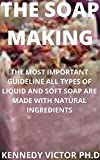 THE SOAP MAKING: THE MOST IMPORTANT GUIDELINE ALL TYPES OF LIQUID AND SOFT SOAP ARE MADE WITH NATURAL INGREDIENTS (English Edition)