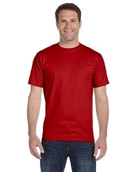 Hanes Men s Short-Sleeve Beefy T-Shirt,Deep Red,3X-Large