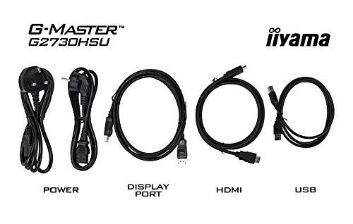 iiyamaゲーミングモニター27型144Hz液晶/TNノングレアWQHD2560x1440/1ms昇降/DisplayPort,HDMI,DVI-D/3年保証GB2760QSU-B1