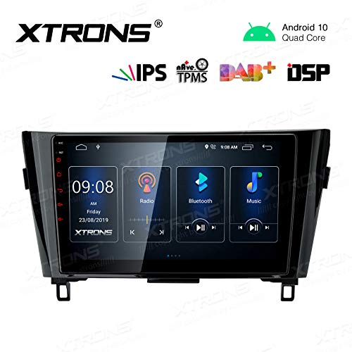 XTRONS Android 10.0 Car Stereo Radio Player 10.1 Inch IPS Touch Screen GPS Navigation Built-in DSP Bluetooth Head Unit Supports Full RCA Backup Camera WiFi OBD2 DVR TPMS for Nissan X-Trail Qashqai