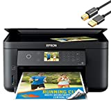 Epson Expression Home XP 5000 Series Wireless All-in-One Color Inkjet Printer for Business Office, Print Scan Copy, Auto 2-Sided Borderless Print, 150-Sheet Capacity, Card Slot, ORPHYER Printer Cable
