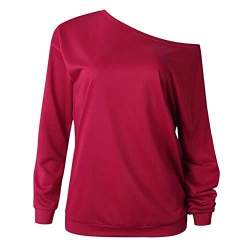 Uitgesneden Sweatshirt Dames Lente Slouchy Hals Truien Mode Casual Volledige mouw Sexy Hoodies Merk Zwart Rood Blauw Tops