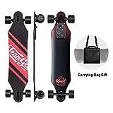 Teamgee H5 Longboard Électrique - Skateboard Électrique Adulte Untra-Mince avec Télécommande sans Fils, Moteurs Doubles 760W, Vitesse Maximal 35km/h Autonomie 15km-18km (Rou'ge)