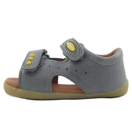 Bobux Sandalo Aperto Velcro Primi Passi Step UP Bambino 721003 Grigio Taglia: 19