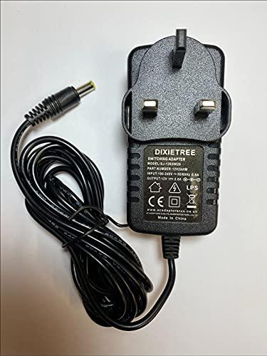 12V 1.2A Mains AC-DC Adaptor Power Supply for Makita DMR108 DAB Job Site Radio