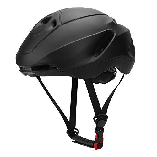 Tenpac Casco de Ciclismo, Casco de Seguridad para Bicicleta, Casco neumático, Duradero Ajustable para Bicicleta de Ciclismo(Matte Black, M)