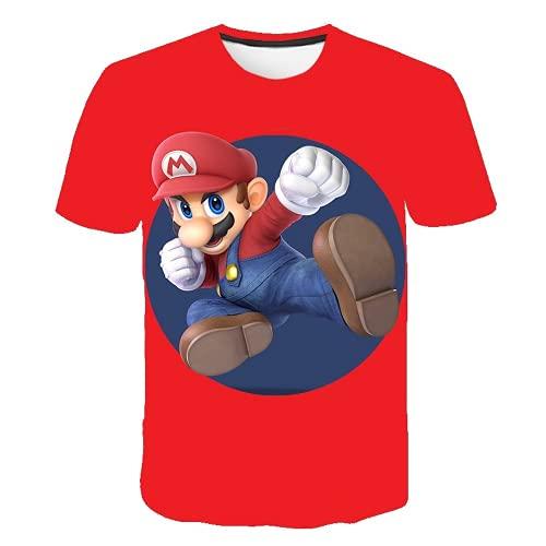 MPY-SEA Super Mario Bros - Camiseta de verano para niño o niña, informal, manga corta (C10,150 cm)