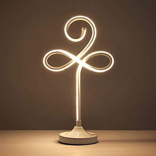 WEIJINGRIHUA Arco LED lámpara de Escritorio Tabla de Luces Fixture Minimalista de iluminación Regulable sin escalonamiento Luz (Color : Yellow Light)