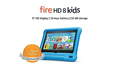 Fire HD 8 Kids tablet | 8' HD display, 32 GB, Blue Kid-Proof Case