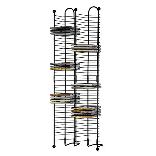 Atlantic Nestable 100 CD Tower - Holds 100 CDs, Efficient Side by Side Space-Saving Design, Heavy Gauge Steel Construction, Gunmetal Finish PN63705079