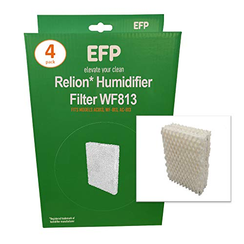 EFP Humidifier Filters for Kaz WF-813, WF813 Relion Model Humidifiers Replacement Wicking Filters | Includes 4 Aftermarket Replacement Filters
