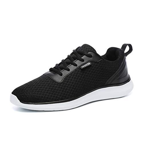 Zapatillas de Deporte de Malla Transpirable con Cordones para Hombre Zapatillas de Running, Zapatos Casuales, Zapatillas de Fitness