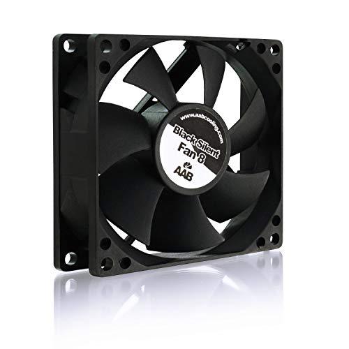 AABCOOLING Black Silent Fan 8 - Un Silencioso y Muy Efectivo Ventilador PC, Fan 80mm, Ventilador 12V, Ventilador Laptop, Fan Cooler, 50 m3/h, 2000 RPM 15,6 dB (A)