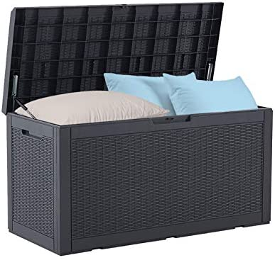 BLUU 100 Gallon Outdoor Deck Box with Cushion for Outdoor Pillows Pool Toys Garden Tools Furniture product image
