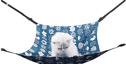 【DECTO】猫ハンモック/ペット ヒモ調整可能 遊び場 日向ぼっこ 洗濯可能 通気性抜群 昼寝 夏冬両用 小動物用 ペットハンモック (白柄)