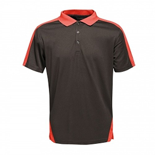 Regatta Contrast Quick Wicking Button Neck Polo Shirt T-Shirts/Polos/Vests, Hombre, Navy/New Royal, XL